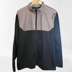 And1 Mens Full Zip Black and Gray Jacket Size XL